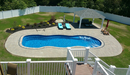 Fiberglass Pool Installed by Elvio and Sons