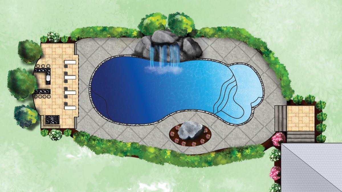 The Eclipse Fiberglass Pool by Leisure Pools