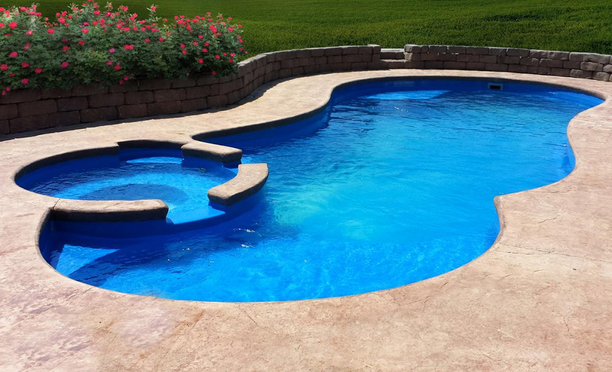 The Allure Fiberglass Pool by Leisure Pools