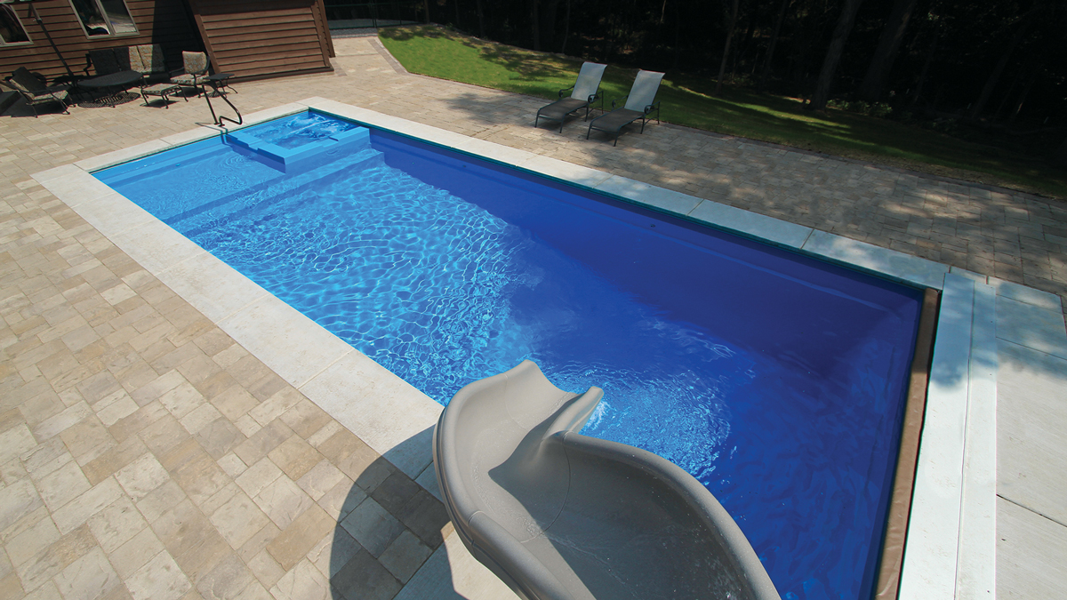 The Icon Fiberglass Pool by Leisure Pools
