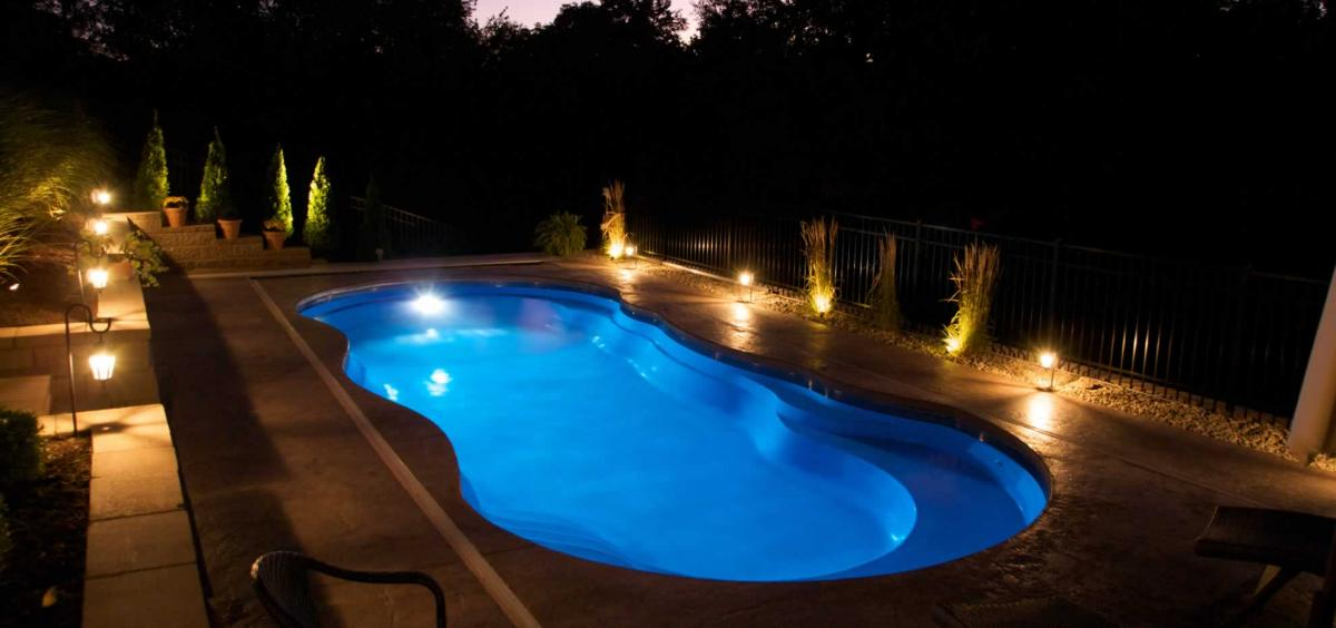 The Riviera Fiberglass Pool by Leisure Pools