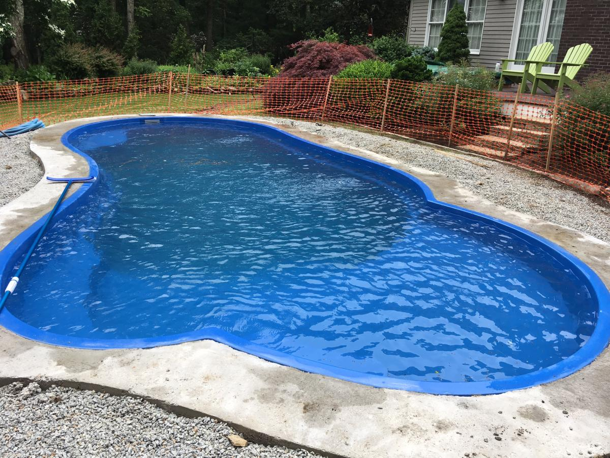 Eclipse Fiberglass Pool, installed in North Kingston, RI