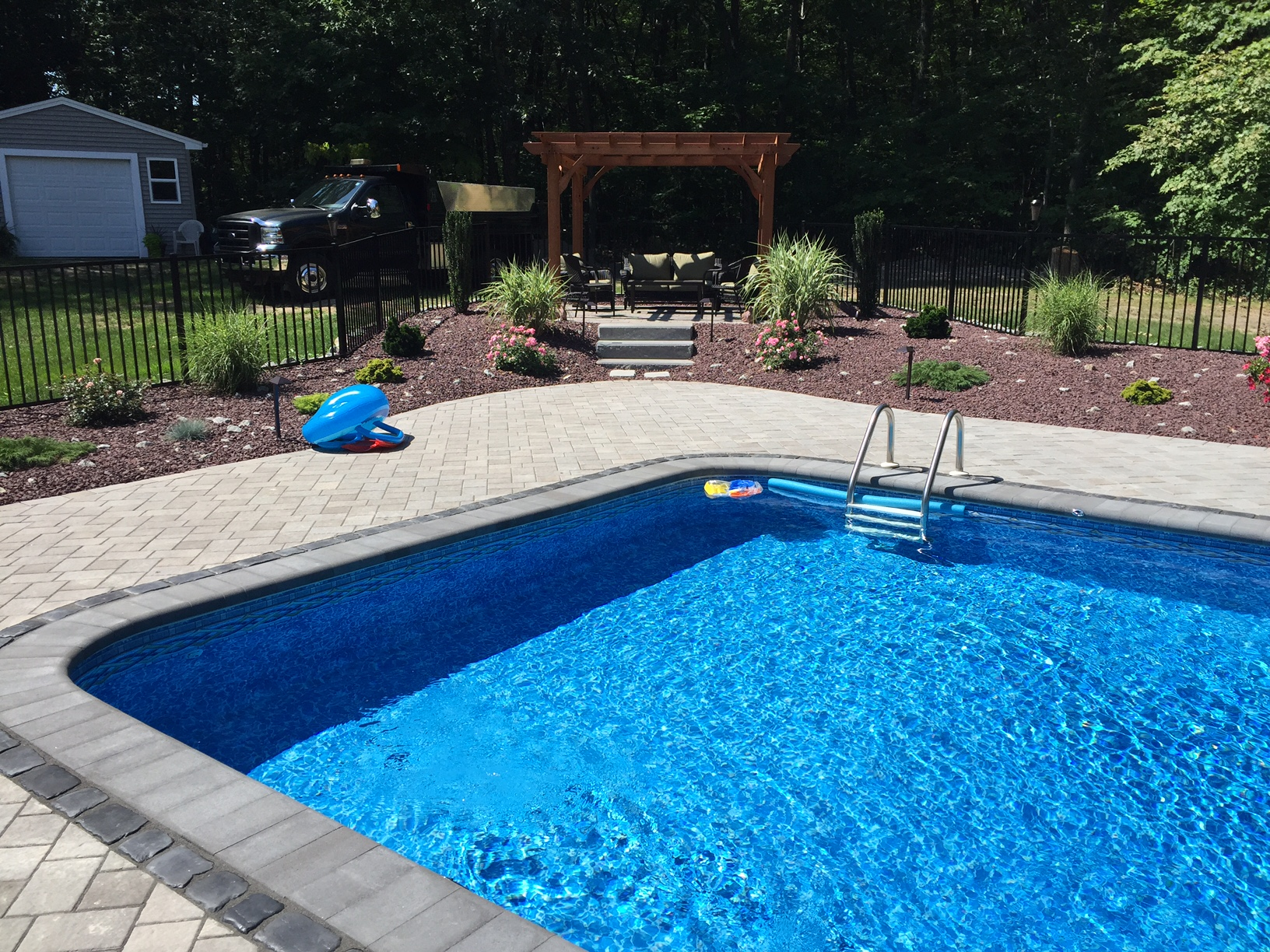 Unilock Paver Patio Installation in Johnston RI