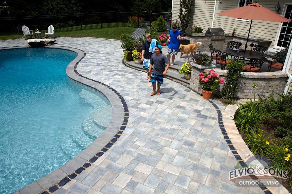 Saunderstown, RI Gunite Pool, Patio, And Water Features   Elvio And Sons