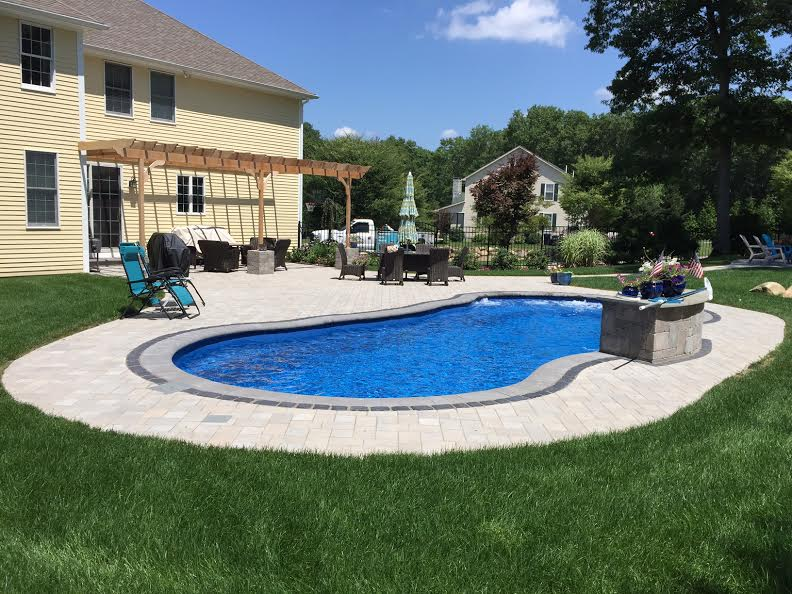 North Kingstown Fiberglass Pool and Patio | Elvio and Sons