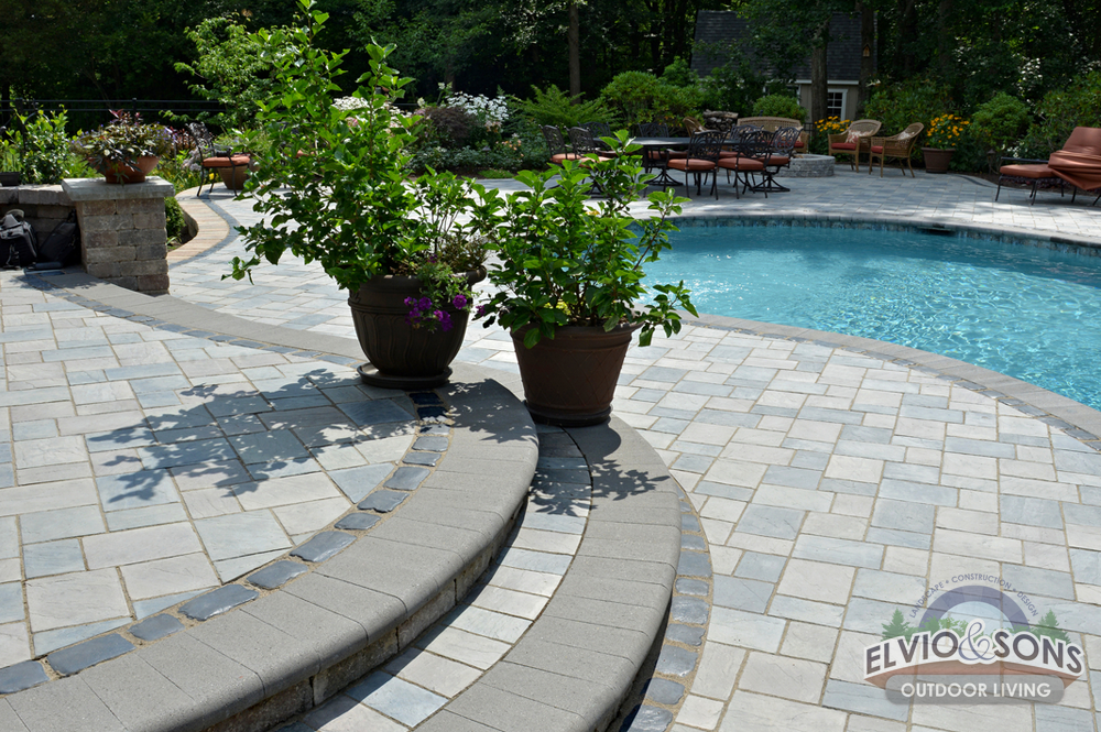 Saunderstown, RI Gunite Pool, Patio, And Water Features | Elvio And Sons