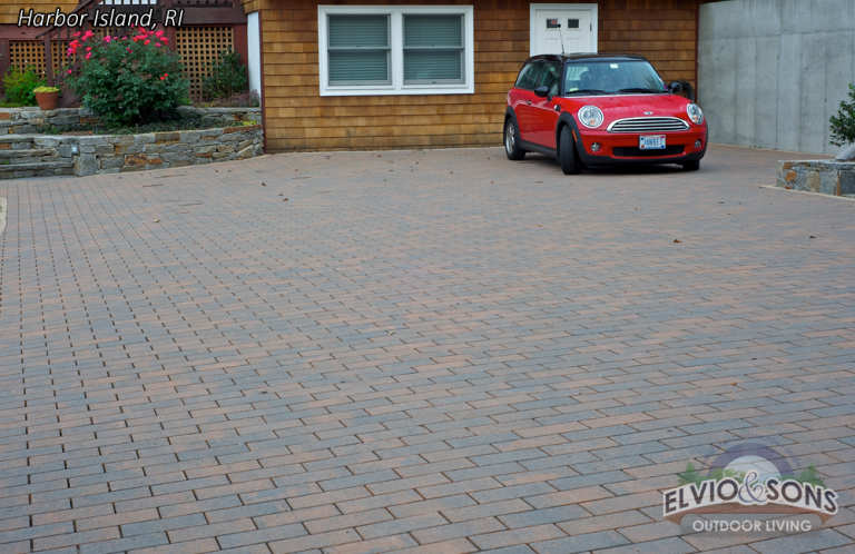 Paver Driveways built by Elvio and Sons in Rhode Island