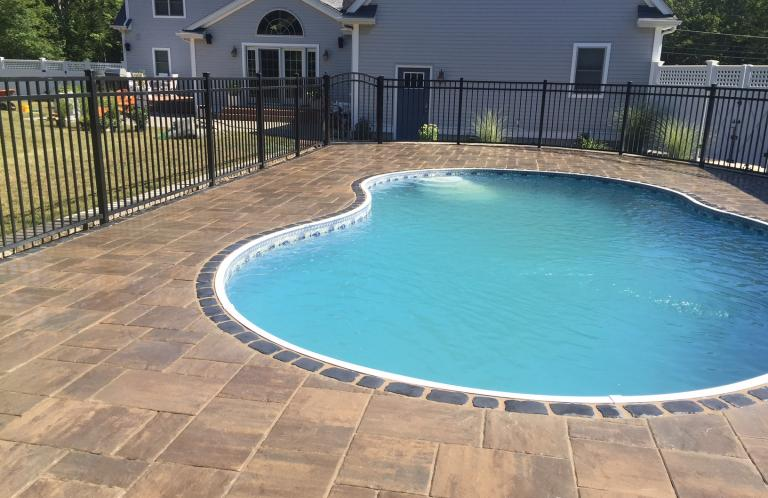 Paver Patio in Plainville, MA: Material is Unilock Beacon Hill Pavers