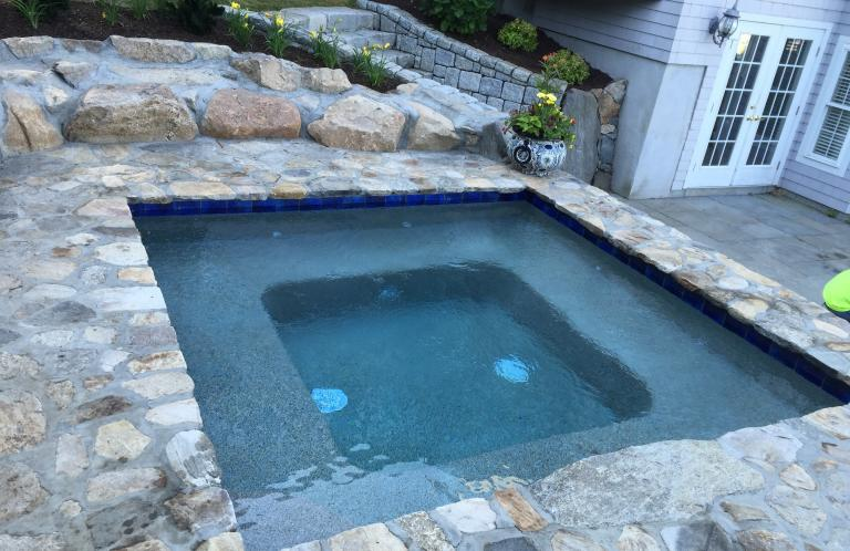 Stone Work around Pool and Spa