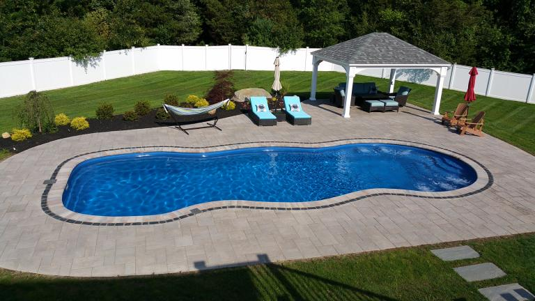 Norton, MA Fiberglass Pool and Patio