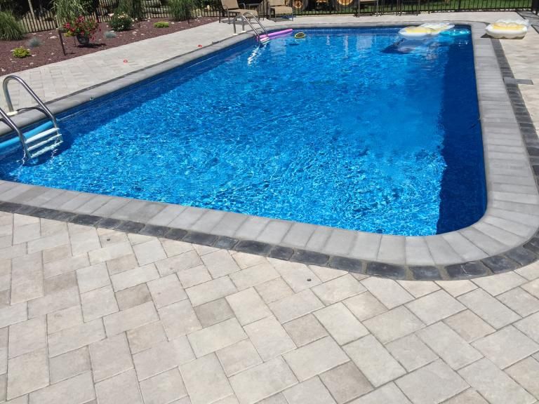 Unilock Paver Patio Installation in Johnston, RI